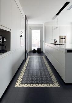 Un carrelage de sol comme un tapis - Marie Claire Maison