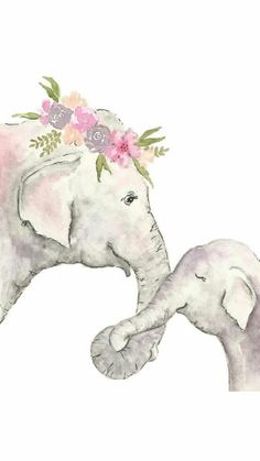 Elephant nursery print - watercolor Elephant- elephant printable - child elephant Illustration Children obtain Elephant Love, Elephant Nursery, Water Color Elephant, Baby Elephants, Indian Elephant, Mama Elephant, Cute Drawings, Animal Drawings, Elephant Drawings
