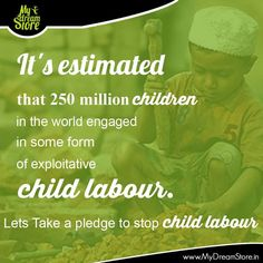 Please Stop Child Labour and we become developed country