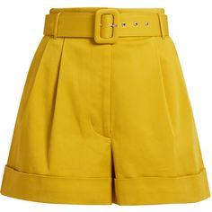 Isa Arfen Safari high waist cotton twill shorts 44155 DZD via High Rise Shorts, High Waisted Shorts, Modest Shorts, Long Shorts, Short Outfits, Cute Outfits, Ashley Clothes, Metallic Shorts, Tailored Shorts