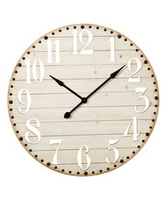 Take a look at this Cut Out Numbers Whitewash Wall Clock today!