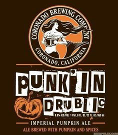 Coronado Brewing Company is set to release its seasonal 'crown series' offering of Punk'In Drublic, a imperial pumpkin ale, later this month.