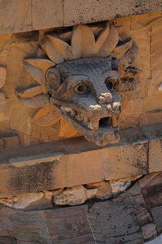 Teotihuacán, Mexico.Quetzalcóatl