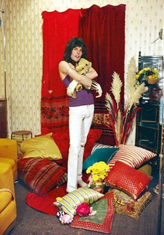 A photoshoot for Queen done at Freddie's flat in Holland Park