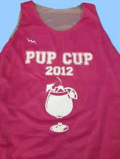 Pup Cup Pinnies  made to order any way you want them with our custom pinnie designer.  USA made.