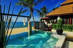Pavilion Samui Resort, Koh Samui, Thailand. Intimate little pool villas open to the beach.