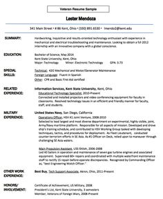 veteran resume sample httpresumesdesigncomveteran resume