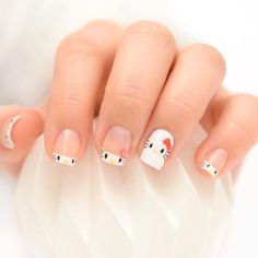 Who said Hello Kitty was just for little girls? Check out these colorful and super cute Hello Kitty nail art designs you're gonna love! Nail Art Hello Kitty, Ongles Hello Kitty, Cute Nail Art, Cute Acrylic Nails, Pastel Nails, Pedicure Designs, Nail Art Designs, Stylish Nails, Trendy Nails