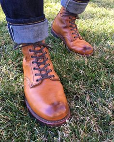 more miles to go on the fades and patina Red Wing Boots, Brown Leather Boots, Working Boots, Miles To Go, Engineer Boots, Raw Denim, Sociology, Workwear, Men's Shoes