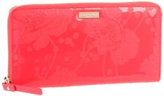 "Kate Spade New York Spotted Floral-Lacey  Wallet,Flaise,One Size Kate Spade New York. $158.00. Made in China. polyester lining. Body: 100% pvc, trim: 90% pu/10% cotton. Zipper closure. 7.75"" wide. 4.25"" high"