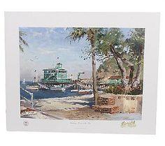 Catalina, Rosies on the Pier Ltd. Ed. Print by Thomas Kinkade