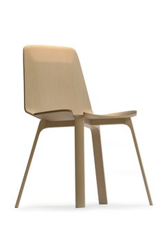 Gap Chair: Fornasarig  Team: Studio Aisslinger  Producer: Fornasarig.    Wood monostructure, central leg construction under the seat which gives the chair its identity and functionality.
