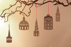 Christmas ornaments by designer Miriam Ortwed's