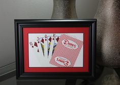 Dunes Las Vegas CLOSED 5x7 Flush Diamonds Authentic Playing Card Display by SinCityDisplays
