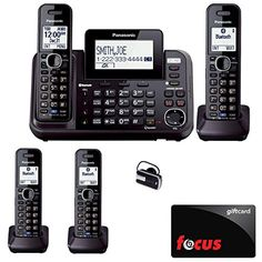 Panasonic KX-TG9542B Dect 6.0 2-Line Cordless Phone w/ Link-to-Cell & 2-Handsets + 2-Pack 2 Line Handset For KX-TG954X + Blue Planet Wireless Bluetooth Headset and Focus $10 Gift Card - http://www.newofficestore.com/panasonic-kx-tg9542b-dect-6-0-2-line-cordless-phone-w-link-to-cell-2-handsets-2-pack-2-line-handset-for-kx-tg954x-blue-planet-wireless-bluetooth-headset-and-focus-10-gift-card/