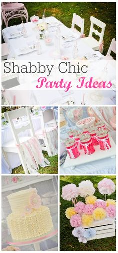 Beautiful cake, cake pops, cookies and decorations at this shabby chic birthday party! See more party ideas at CatchMyParty.com.