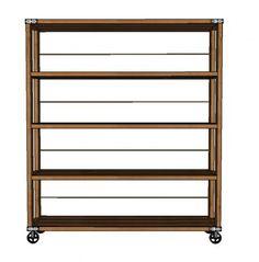 DIY Furniture : DIY Rolling Industrial Shelves