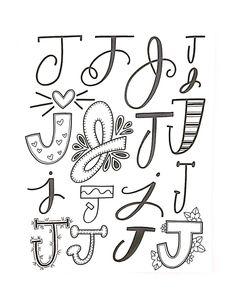 """426 Likes, 3 Comments - Jessie Arnold (@mrs.arnoldsartroom) on Instagram: """"Letter J- my favorite! #handletteredabcs #handletteredabcs_2017 #abcs_j #lettering…"""""""