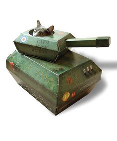 This Tank Cat Toy is something else! Just what your feline family member needs!! ●Zulily●