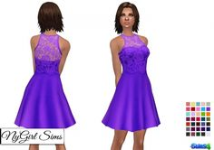 Lace Overlay Flare Dress at NyGirl Sims • Sims 4 Updates