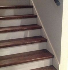 From Carpet to Wood Stairs Redo - Cheater Version...