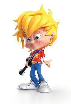 Diseños de personajes 3D de niños por Warner McGee - Frogx Three