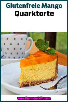 Glutenfreie Mango Quarktorte Mango, Cheesecake, Fitness, Desserts, Food, Gluten Free Oatmeal, Top Recipes, Dessert Ideas, Pies