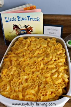 Little Blue Truck's Macaroni and Cheese - A food idea by Joyfully Thriving