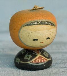 Kokeshi Japanese Wooden Doll - Tiny Naruko Style Ningyo   Flickr - Photo Sharing!