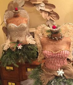 Christmas Tree Dress Form Mannequin Vintage by StarviewSonnet