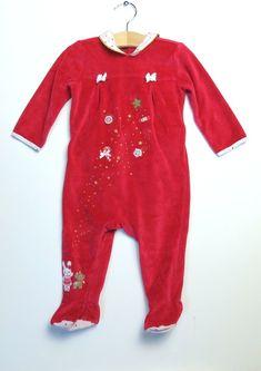 9be68121e13f4 #pyjama Sergent Major en velours fille 9 mois #noël #vetementenfant #bébé