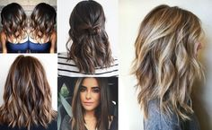 Trendy shoulder length hairstyle for black women – black to brown balayage Use a tapered curling iron to create a balanced curled look for your medium hair. You'll end up with wide, round curls on top that curve into beautiful ringlets at the ends for a gorgeous finish. via Hair color ideas for medium thick hair …