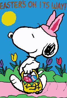 ੯ू•͡● ̨͡ ₎᷄ᵌ ✯                                                    Snoopy on Easter Day