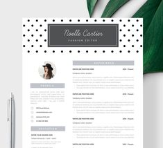 resume template instant download resume with photo creative resume cv template word and pages cv design curriculum vitae resume templates