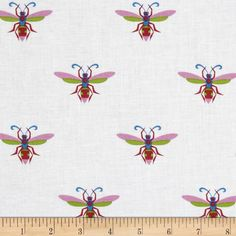Gregory's Garden Wasp Fuchsia from @fabricdotcom  Designed by Jane Sassaman for Free Spirit, this cotton print is perfect for quilting, apparel and home decor accents. Colors include blue, fuchsia, white and lavender.