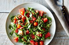 Watermelon, Tomato, and Four-Herb Salad, a recipe on Food52