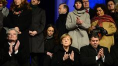 The German president and chancellor have attended a Muslim community rally in Berlin to promote tolerance and religious freedom.