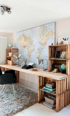 20 Great Crate Projects | home office | Pinterest | Decoração ...