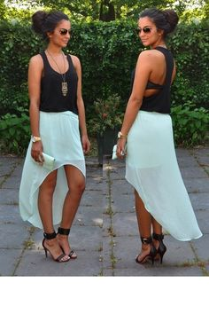 Because this is what my summer outfits will consist of. YES!! High-Low. Cute colors. Beautiful. :)