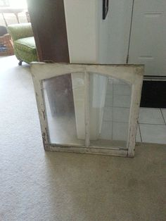 Bought this old window knowing EXACTLY what I wanted to do with it! Bought two of these beauties from an old house being torn down.  I just knew I could salvage…