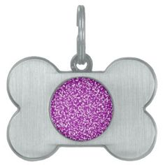 Purple Speckles Dog bone Dog tag - home gifts ideas decor special unique custom individual customized individualized