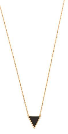 small, simple triangle pendant