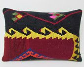 kilim lumbar pillow 16x24 tapestry pillow case kilim pillow set boho chic throw pillow vintage fabric wool cushion cover floral pillow 22288
