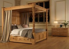 Master bedroom Traditional Four Poster Bed - The Balmoral 4 Poster Bed Four Poster Bed Frame, 4 Poster Beds, Bedroom Posters, 4 Poster Bed Canopy, Bed Frame With Drawers, Oak Beds, Bedding Master Bedroom, Bed Curtains, Luxurious Bedrooms