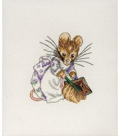 "Maia-Hunca Munca Mini Counted Cross Stitch Kit-4-1/4""X3"" 16 Count & counted cross stitch kits at Joann.com"