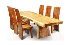 Recycled Wood Dining Set http://www.yunibali.com