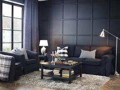 The EKTORP sofa, make it dark and tailored! Quality seating with smart details, for long lasting comfort.