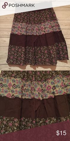 Maurices Ruffle Shirt Lightweight 100% Cotton  Stretchy elastic waistband  Approx. 24'' long   Wore once. New condition. Maurices Skirts A-Line or Full
