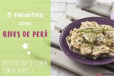 5 receitas com bifes de peru Camembert Cheese, Potato Salad, Mashed Potatoes, Recipies, Bread, Chicken, Cooking, Ethnic Recipes, Food
