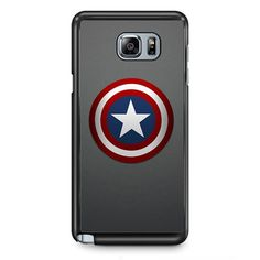 Captain America Shield TATUM-2360 Samsung Phonecase Cover Samsung Galaxy Note 2 Note 3 Note 4 Note 5 Note Edge